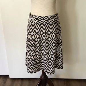 CB Casual Tribal print A-Line Skirt Size S